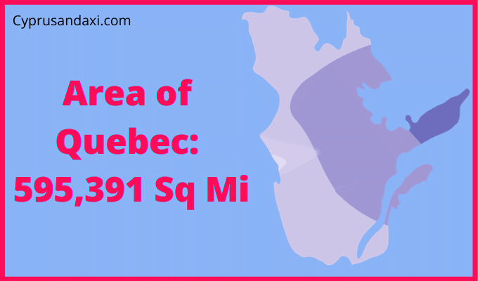 Area of Quebec compared to Texas