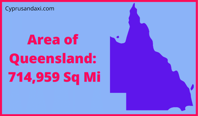 Area of Queensland compared to Texas