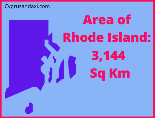 Area of Rhode Island compared to Rhodes