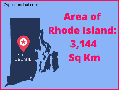 Area of Rhode Island compared to Sicily