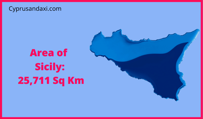 Area of Sicily compared to Japan