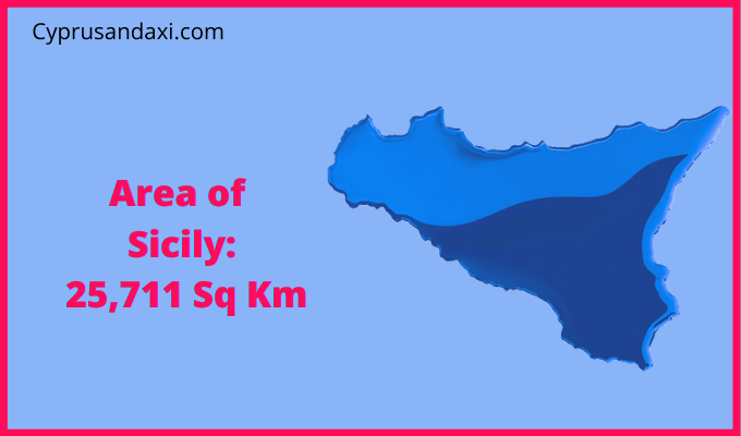Area of Sicily compared to Northern Ireland