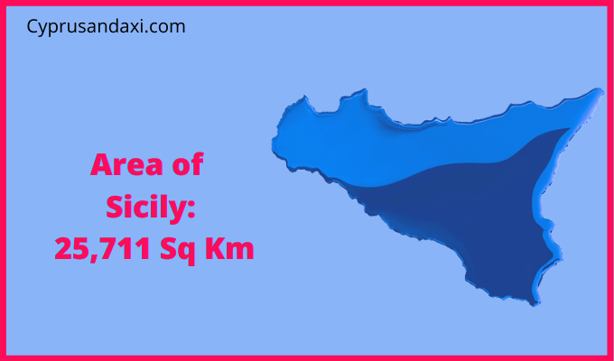 Area of Sicily compared to Rhode Island