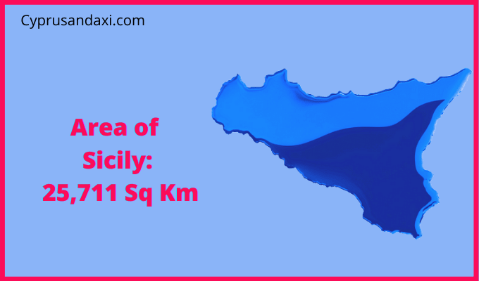 Area of Sicily compared to the UK