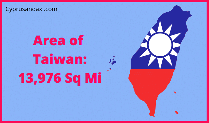 Area of Taiwan compared to Texas