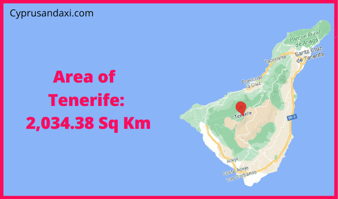 Area of Tenerife compared to Portugal