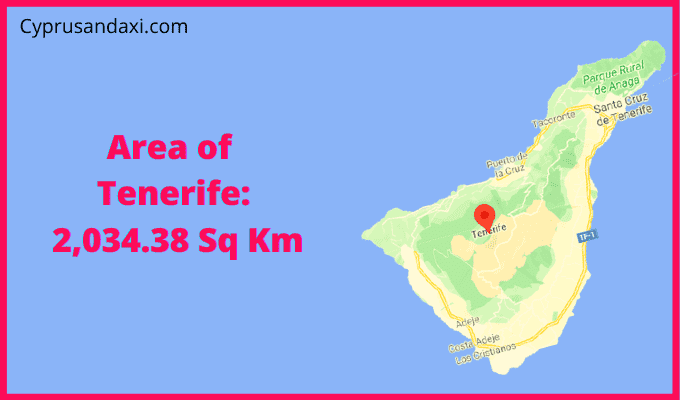 Area of Tenerife compared to The Philippines