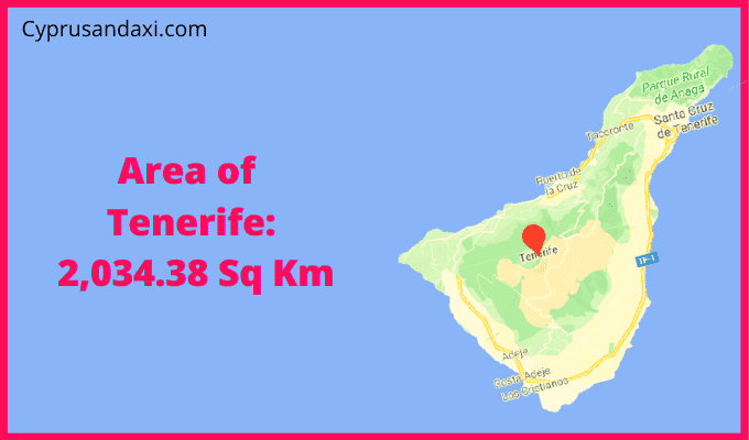 Area of Tenerife compared to Vancouver