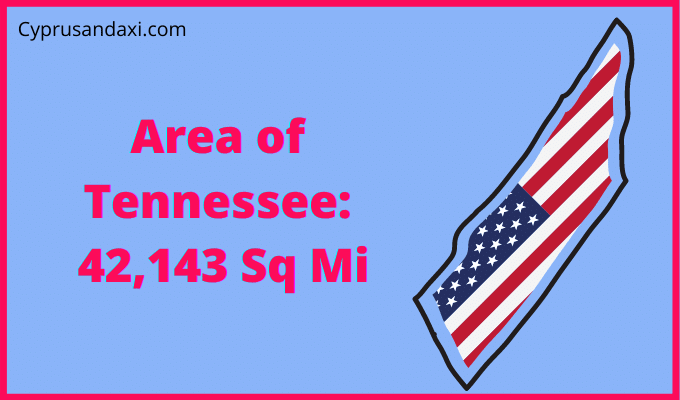 Area of Tennessee compared to Texas