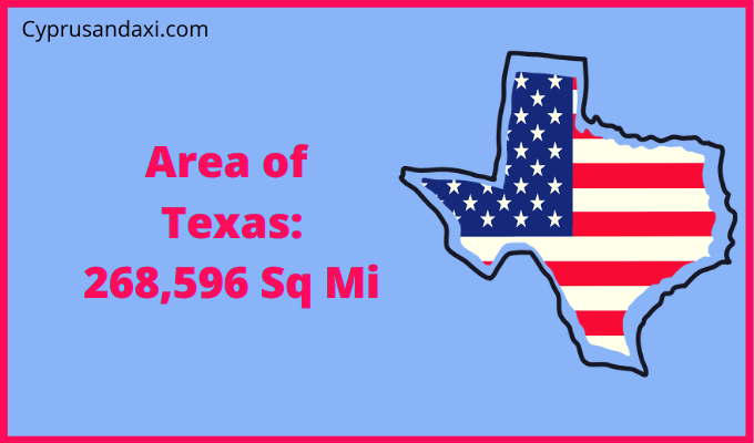 Area of Texas compared to Massachusetts