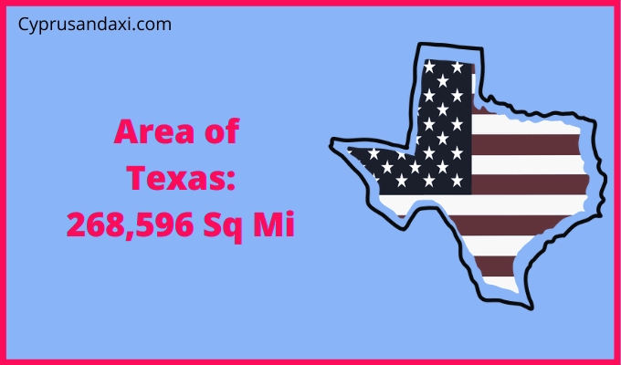 Area of Texas compared to Mexico