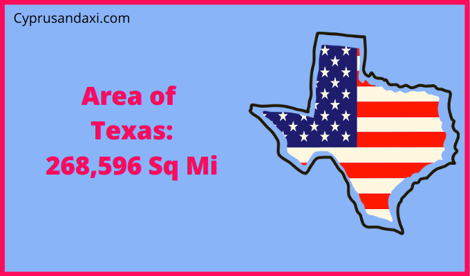 Area of Texas compared to Puerto Rico