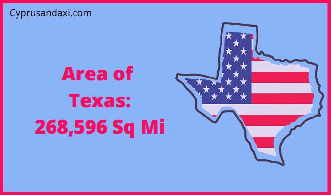Area of Texas compared to Taiwan