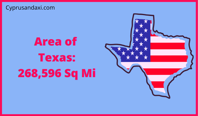 Area of Texas compared to Vermont