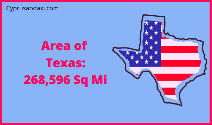 Area of Texas compared to West Virginia