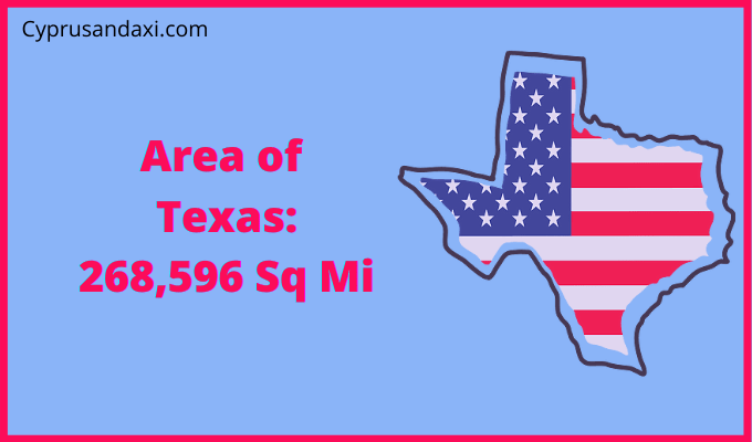 Area of Texas compared to quebec