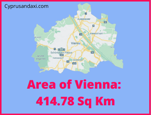 Area of Vienna compared to Rhodes