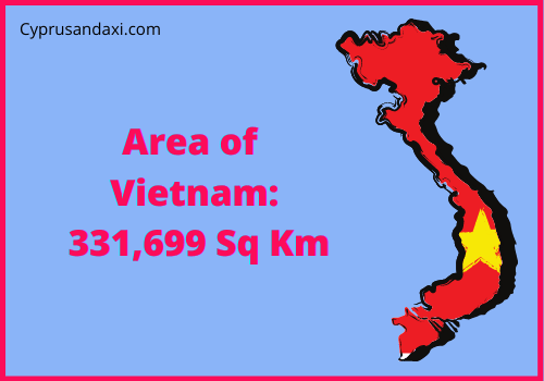 Area of Vietnam compared to Sicily