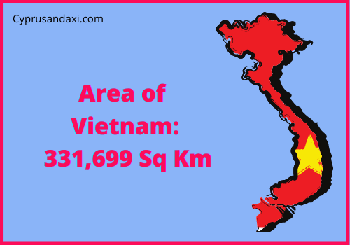 Area of Vietnam compared to Texas