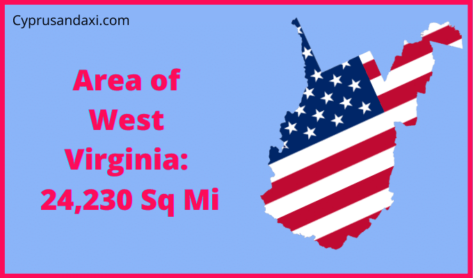 Area of West Virginia compared to Texas