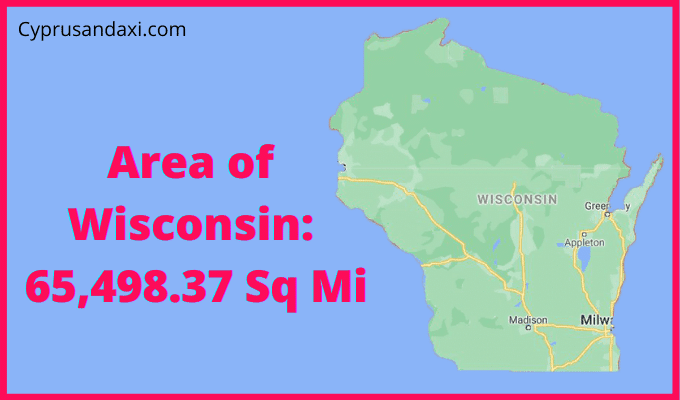 Area of Wisconsin compared to Texas