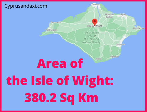 Area of the Isle of Wight compared to Sicily