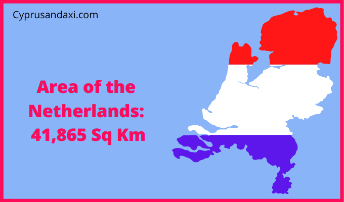 Area of the Netherlands compared to Rhodes