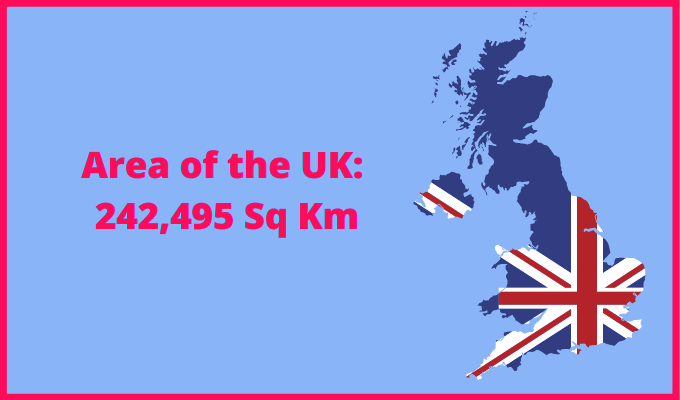 Area of the UK compared to Sicily