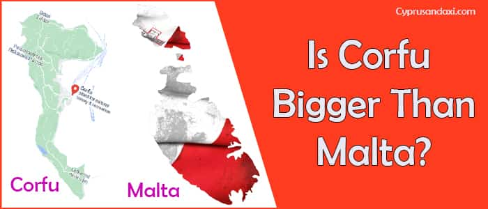 Is Corfu bigger than Malta