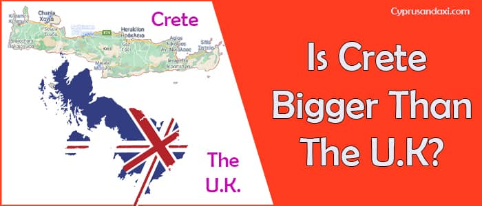 Is Crete bigger than the UK