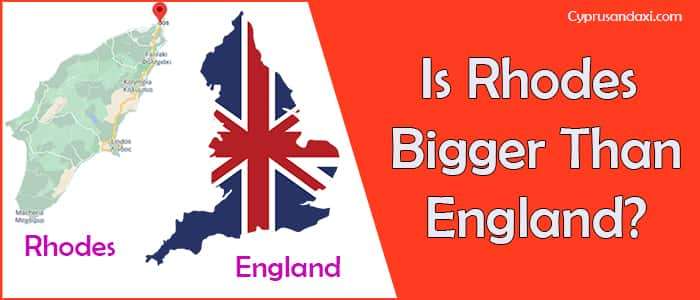 Is Rhodes bigger than England