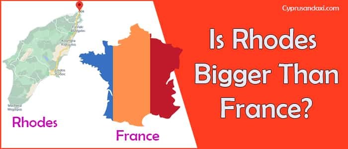 Is Rhodes bigger than France