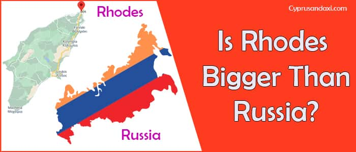 Is Rhodes bigger than Russia