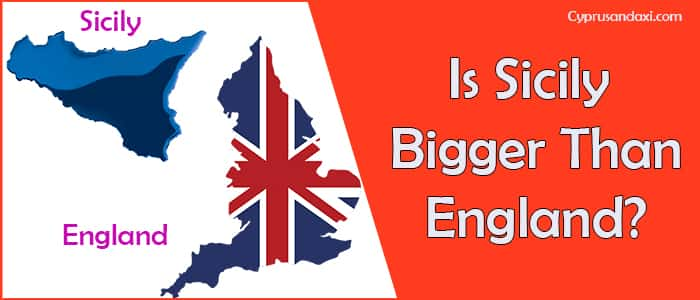 Is Sicily bigger than England