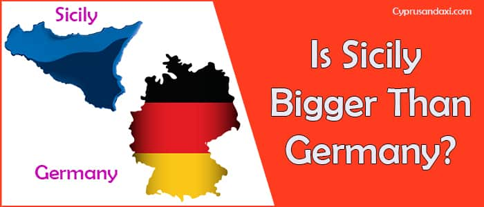 Is Sicily bigger than Germany