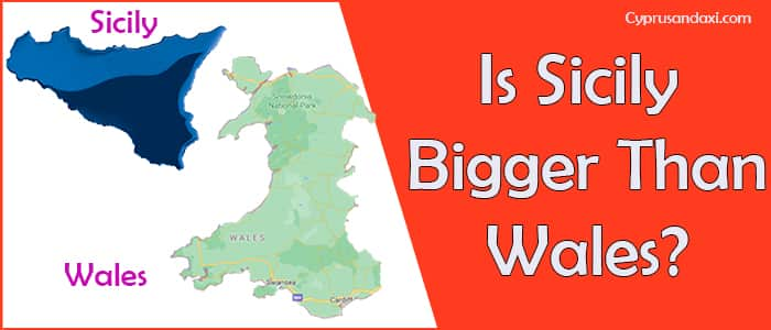 Is Sicily bigger than Wales