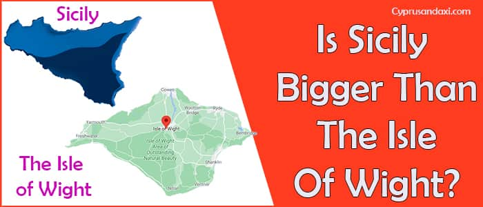 Is Sicily bigger than the Isle of Wight