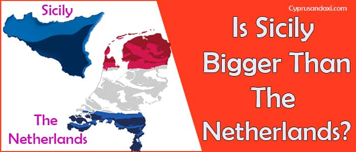 Is Sicily bigger than the Netherlands