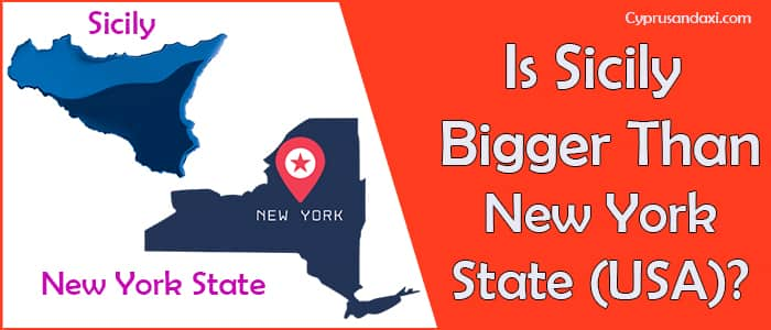 Is Sicily bigger than the New York State of the USA