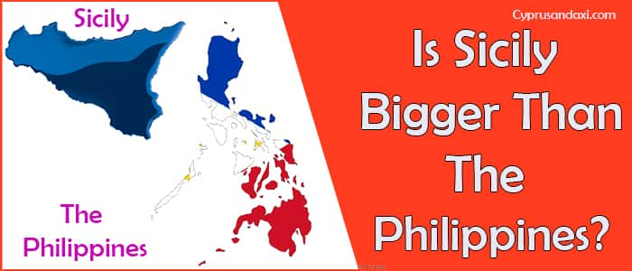 Is Sicily bigger than the Philippines