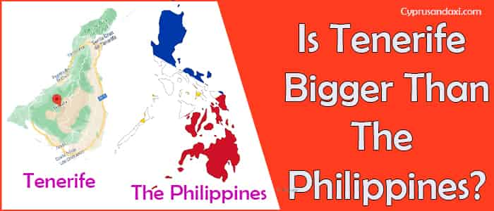 Is Tenerife bigger than the Philippines
