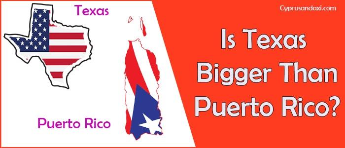 Is Texas Bigger than Puerto Rico