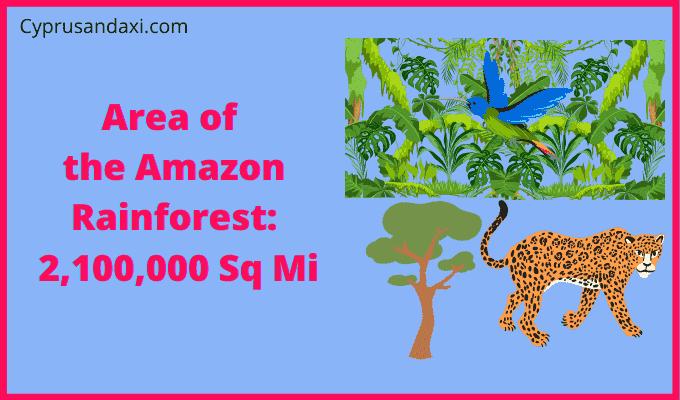 Area of Amazon Rainforest compared to Australia