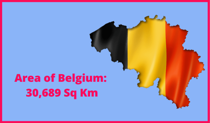 Area of Belgium compared to Wales