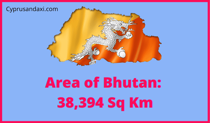 Area of Bhutan compared to the UK
