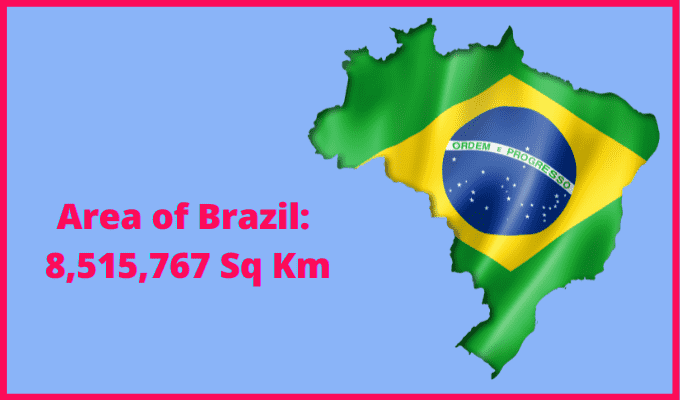 Area of Brazil compared to the UK