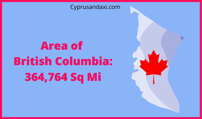 Area of British Columbia compared to the UK