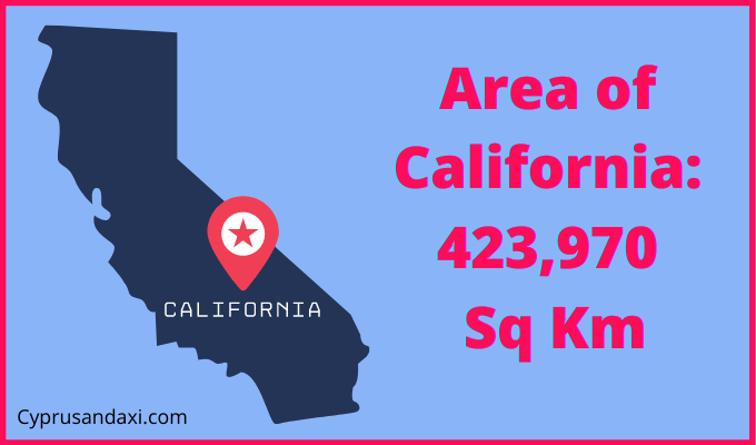 Area of California compared to Wales