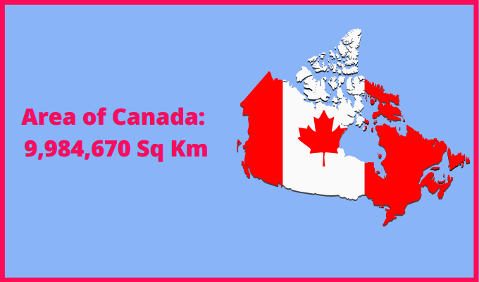 Area of Canada compared to Colombia