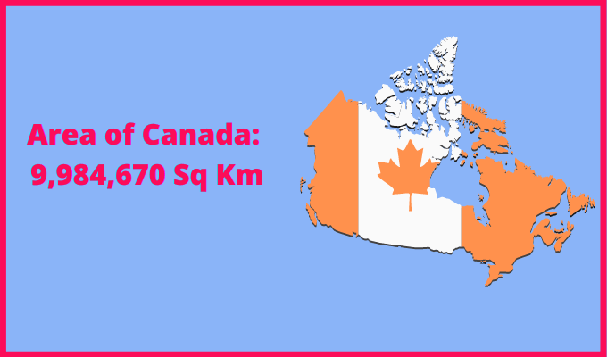 Area of Canada compared to France